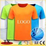 La publicité du T-shirt rond de coton d'uniformes adultes de personnel