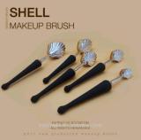 El cepillo del maquillaje del diseño del shell del mar del cepillo 10PCS de los cosméticos de la muestra libre con se ruboriza cepillo