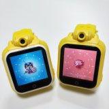 3G子供ビデオ呼出しカメラが付いているスマートなGPSの追跡者の電話腕時計