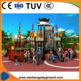 Nouveau design d'enfants Bateau Pirate Aire de jeux de plein air diapositive (WK-A71008D)