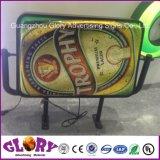Geleuchtetes Acrylsystem und Bekanntmachen des LED-hellen Kastens