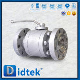 Vávula de bola suave de acero de carbón del sello del diseño seguro del fuego de Didtek