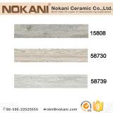 Carrelage en bois de planche de porcelaine grise pour le plancher intérieur