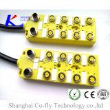 Женщина 8 с 2 мыжской электрической коробкой разъема M12 IP67 с кабелем