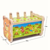 Die hölzernen Kind-Gopher, die Prüftisch zertrümmern, Whack ein Mole-Mäusehammer-Spiel-Musikal-Spielzeug