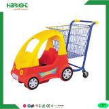 Le plastique en métal badine le chariot de chariot à achats