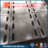중국 공장 알루미늄 입히는 스테인리스 두금속 격판덮개 폭발 용접 구획