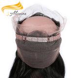 Закрытие шнурка Frontal человеческих волос 360 девственницы бразильское