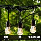 proxy Lighting - 당을%s, 결혼식 목록으로 만들어진, UL 정원 야드 에의한 S14 전구 끈 빛이 훈장 빛에 의하여 옥외 끈 48 FT LED 점화한다
