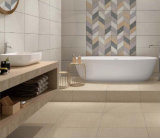 Azulejo de suelo esmaltado rústico del final de lino para la decoración del cuarto de baño
