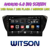 "Witson gran pantalla de 10,2"" de Android 6.0 alquiler de DVD para Volkswagen Skoda excelente"