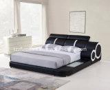 Base registrabile del cuoio del doppio dell'insieme di camera da letto con il LED