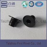 remache de acero completamente tubular negro del paso de progresión del color del cinc de 6.1X7.6m m, remache del sensor del freno
