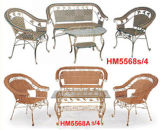 Eisen-Rattan-Tabellen-Stuhl (HM5568s/4)