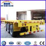 3개의 차축 평상형 트레일러 콘테이너 트럭 트레일러 60 톤 40FT