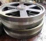 Engranaje helicoidal del doble grande del módulo, rueda usada en la caja de engranajes de la industria del cemento