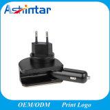 점화 LED 표시기 OEM ODM 여행 접합기 이동 전화 철회 가능한 차 충전기