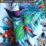 100% poliéster tejido de Impresión Digital de la selva para la Mujer el vestido.
