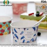 100ml Dipsosable Helado vaso de papel con tapa y cuchara