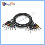 Het Wijfje van de Kabel XLR van de slang aan 6.35mm de StereoJack PRO AudioKabel van de Link