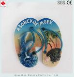 Zapatilla de resina de alta calidad de recuerdo para el diseño de elementos de imán de nevera
