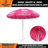 Стальной рекламируя зонтик пляжа