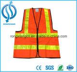 Veste amarela e alaranjada do tráfego elevado da visibilidade da segurança
