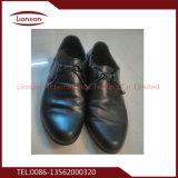 Couro de couro elevado sapatas usadas para homens