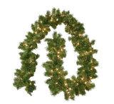 9FT Slinger (van 2.7m) Lit van Plastieken de Pre, Slinger van Kerstmis van 100 de Duidelijke Lichten Kunstmatige