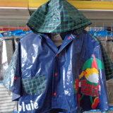 De in het groot Poncho van de Regenjas van de Jonge geitjes van het Jasje van de Regen van de Kinderen van de Regenkleding van pvc