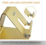 Suporte de alumínio do telefone de pilha do metal da venda por atacado da cor do ouro com boa qualidade