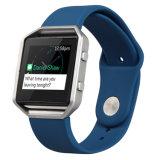Meia-noite Desporto Silicone Band cinta de relógio de pulso para Fitbit Blaze