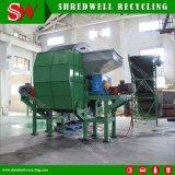 Una trinciatrice delle due aste cilindriche per il riciclaggio di plastica residuo della bottiglia/timpano/benna