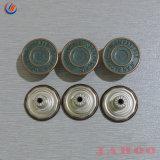 Ligas Zamac Metal personalizado Shank Botões para vestuário de denim Jeans