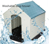Casa de perro plástica movible y lavable grande estupenda con la lumbrera