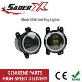 4 pulgadas LED 30W para el alquiler de luces de niebla/camión/Jeep Wrangler 1997-2017 fuera de carretera