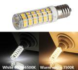 E14 4.5W Mini SMD LED Lámpara de maíz blanco y caliente para mueble de la luz y Crystal Droplight