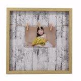 MDF blanco con el marco de papel del clip de Venner para la pared Deco