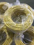 9.1*15.2mm Jaune flexible en caoutchouc pour le transfert de gaz approuvés de la CCC