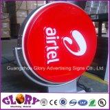 Airtelのブランドの円形の回転ライトボックスの回転の印