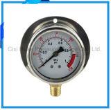 """フランジのステンレス鋼ハウジングの圧力計の底接続との2.5 """""""