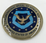 Il metallo/oggetto d'antiquariato/ricordo/oro su ordinazione/polizia militare/d'argento sfidano la moneta con il marchio nessun minimo