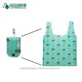 Heißes Verkaufs-bestes Qualitätskundenspezifisches Muster-mehrfachverwendbare fördernde hohe Kapazität, die faltbaren Polyester-Einkaufstasche-Großverkauf faltet