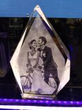 Cubo di cristallo di figura di Dimand per i regali di cerimonia nuziale