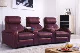 Современные три сиденья из натуральной кожи с откидной спинкой диван (HC049)