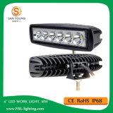 자동 소형 LED 일 표시등 막대 18W 12V 표시등 막대를 작동되는 6 인치 트럭 차량