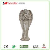 Зачарованный Polyresin постоянного Angel статую для во двор и сад оформление