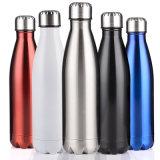 Bouteille d'eau en acier inoxydable double parois bouteille en acier inoxydable