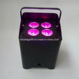 PARIDADE sem fio Uplight do casamento da bateria DMX do diodo emissor de luz 4*18W RGBWA+UV 6in1