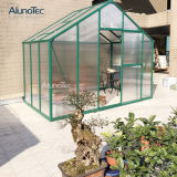 Grünes Aluminiumhaus in kundenspezifischer Größe